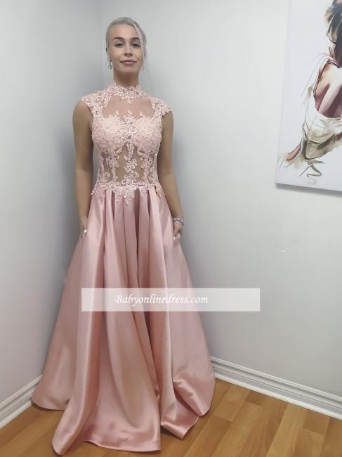 robe de soirée longue | robe rose pâle