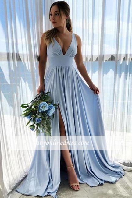 robe de soirée longue taille haute fendue