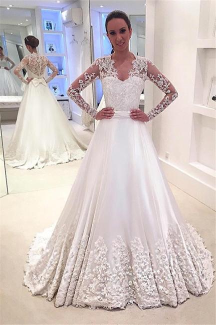Forme Princesse alayage/Pinceau train Robes de mariée 2021 avec Appliques