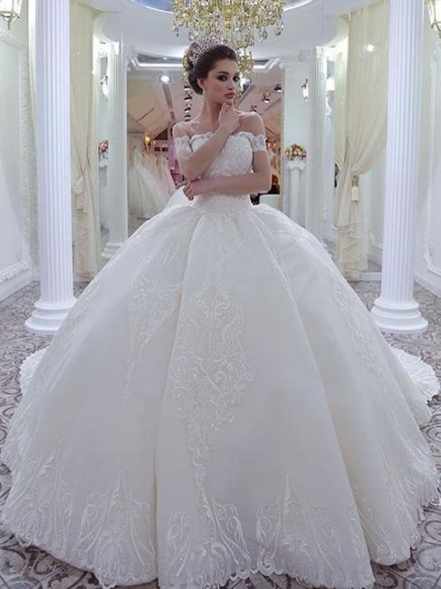Robe de mariée princesse épaules nues | Robe de mariage princesse dentelle sublime