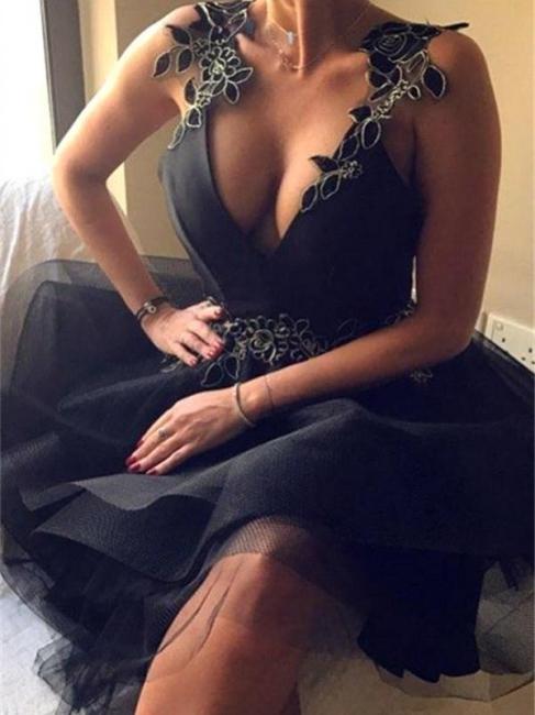 Robe de cocktail mini col en V sexy | Robe de soirée courte