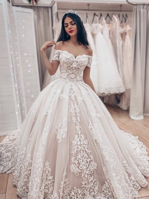 Robe de mariée princesse dentelle élégante | Robe de mariage princesse épaules nues