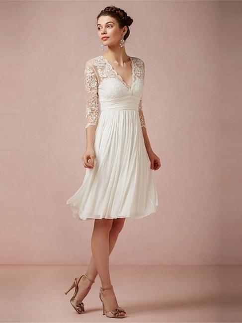 Robe dentelle robe de mariée robe mini mousseline polyester couleurs au choix