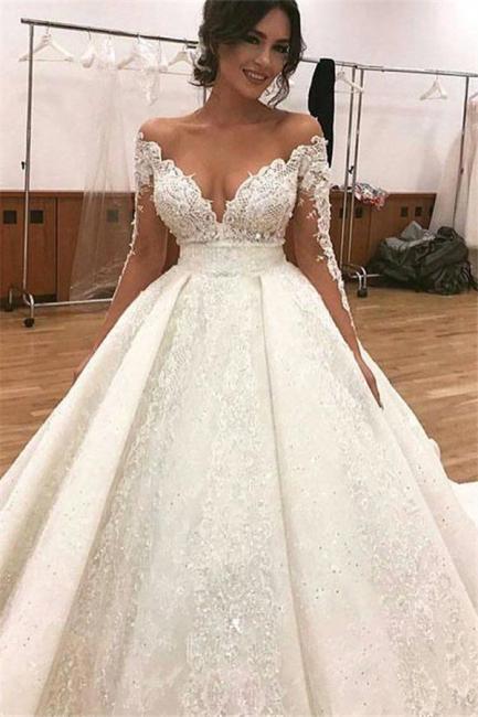 robe soirée princesse critaux | robe dentelle manches longues