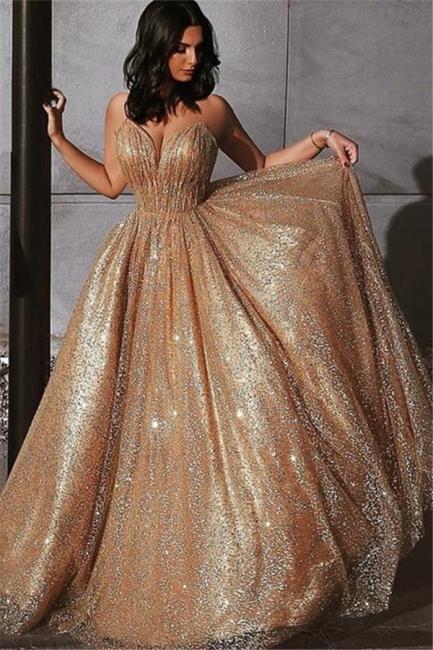 Robe de bal princesse pailletée brillante | Robe de soirée princesse sans bretelles
