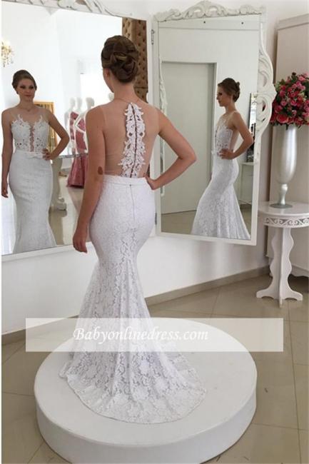 Robe de mariée sirène dentelle chic | Robe de mariage trompette sans manches