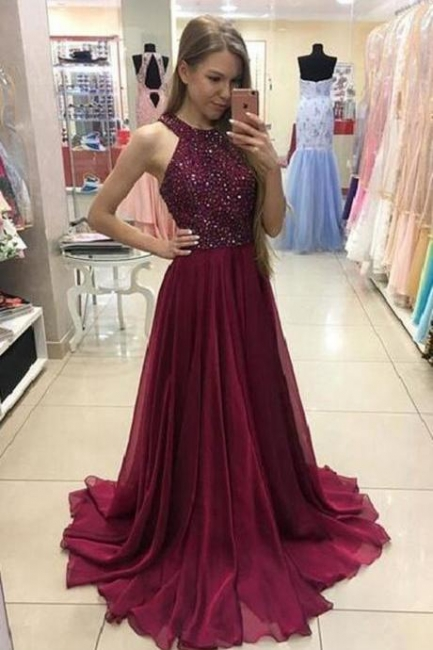 Forme Princesse alayage/Pinceau train Dos nu Robes de bal 2021 avec Cristal