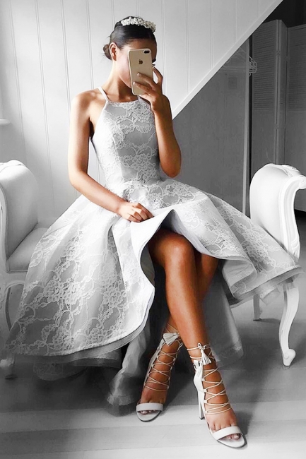 Forme Princesse Traîne asymétrique Dos nu Dentelle Robes de bal avec Dentelle