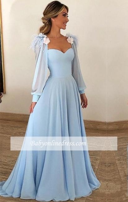Robe de Princesse traîne balayage Col en cœur Robes de soirée 2021 à Fleurs