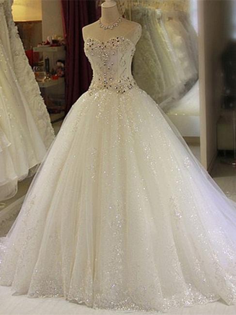 Robe de mariée princesse tulle longue avec cristaux | robe de mariage chic