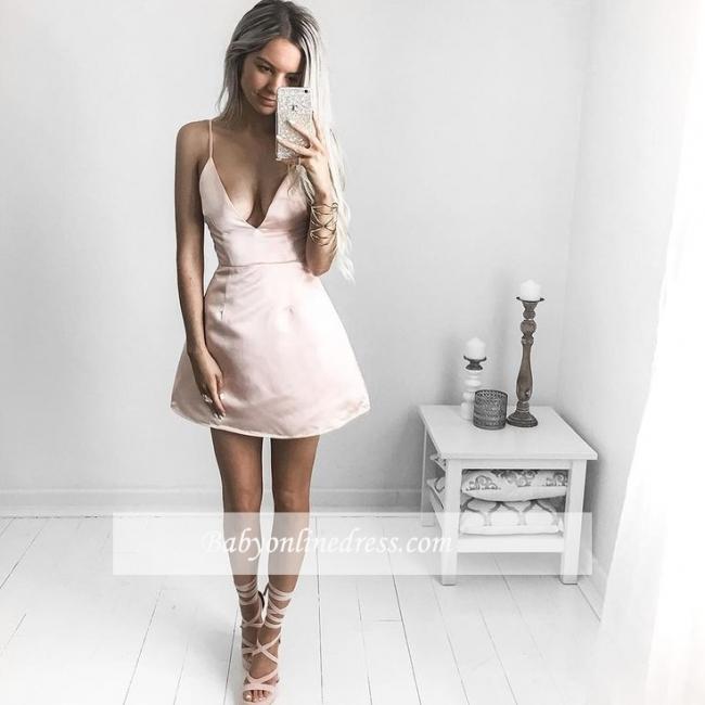 Robe de soirée princesse courte chic | Robe de cocktail princesse col en V