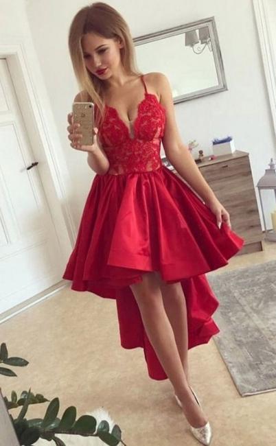 Robe de Soirée Cérémonie | Robe de Soirée asymétrique Rouge