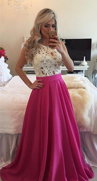 Forme Princesse Col rond Robes de bal avec Dentelle et perle couleurs au choix