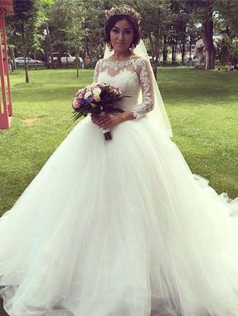 Forme Marquise alayage/Pinceau train Tulle Robes de mariée 2020 avec Dentelle