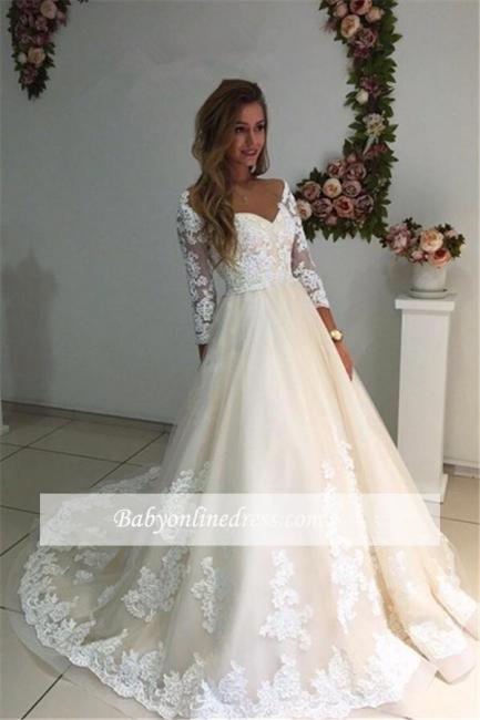 Forme Princesse Longueur ras du sol Col en cœur Dentelle robe de mariée