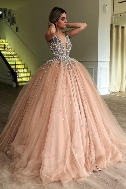 Robe de bal princesse tulle avec perles | Robe de soirée princesse splendide