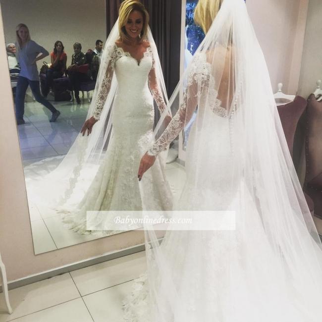 Forme Sirène/Trompette Longueur ras du sol Col en cœur Dentelle Robes de mariée 2020 avec Dentelle