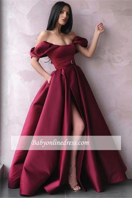 Robe de bal princesse fendue devant   Robe de soirée princesse épaules nues