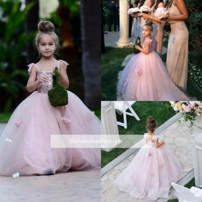 Forme Princesse Longueur ras du sol Tulle robe pour fille