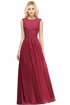Forme A-line robe de cérémonie en dentelle délicat mousseline polyester longueur sol couleurs au choix_2