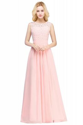 Forme A-line robe de cérémonie en dentelle délicat mousseline polyester longueur sol couleurs au choix_1