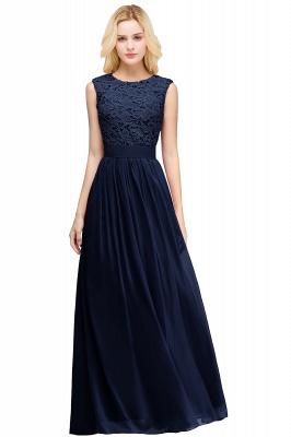 Forme A-line robe de cérémonie en dentelle délicat mousseline polyester longueur sol couleurs au choix_3