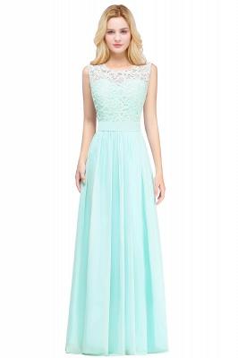 Forme A-line robe de cérémonie en dentelle délicat mousseline polyester longueur sol couleurs au choix_4