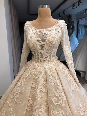 Robe de mariée princesse dentelle luxueuse | Robe de mariage princesse manches longues_4