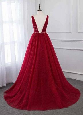 Robe de bal princesse chic avec perles | Robe de soirée princesse col en V_3