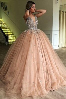 Robe de bal princesse tulle avec perles | Robe de soirée princesse splendide_1