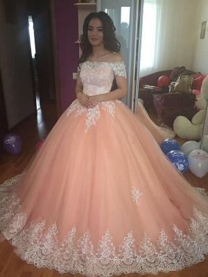 Robe de mariée princesse dentelle élégante | Robe de mariage trompette épaules nues_1