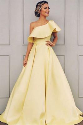 Robe de bal A-ligne épaules asymétriques | Robe de soirée ligne A moderne_2