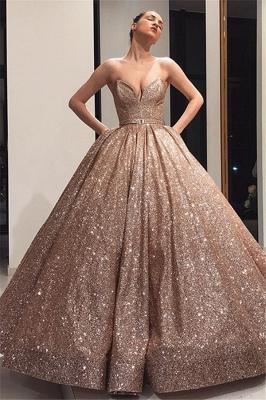 Robe de bal princesse épaules nues | Robe de soirée princesse brillante_1