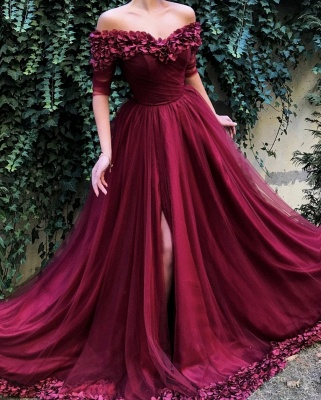 Robe de bal princesse tulle chic | Robe de soirée princesse épaules nues_4