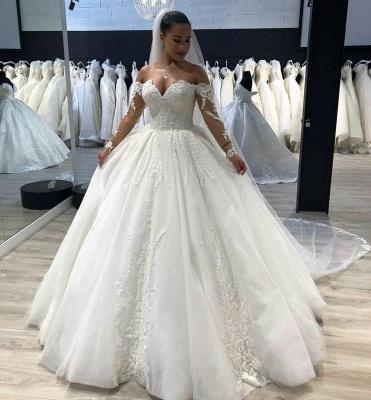 Robe de mariée princesse manches longues | Robe de mariage princesse épaules nues_2