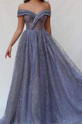 Robe de bal princesse brillante épaules nues | Robe de soirée princesse chic avec perles_1