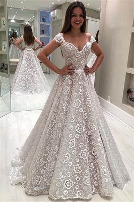 Robe de mariée princesse épaules nues | Robe de mariage princesse avec appliques_1