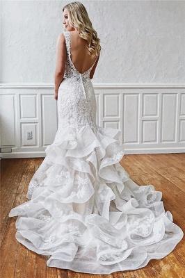 robe de mariée longue sirène dos nu en dentelle_2