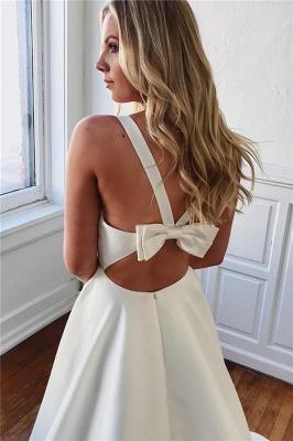 robe de mariée longue princesse col V avec poches_2