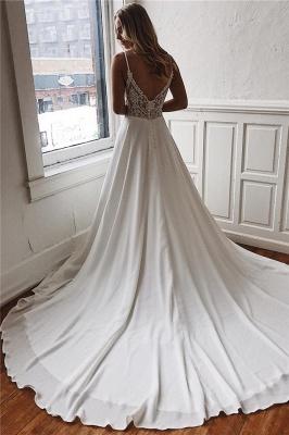 robe de mariée longue col V dos nu avec traîne_2