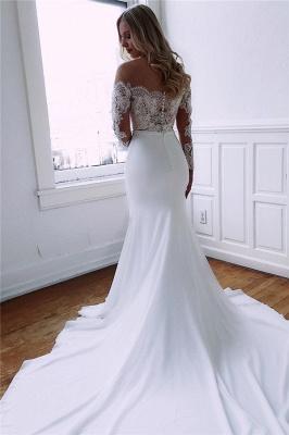 robe de mariée longue sirène trompette épaules nues en dentelles_3