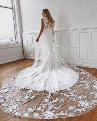 robe de soirée longue sirène trompette en dentelle florale_2