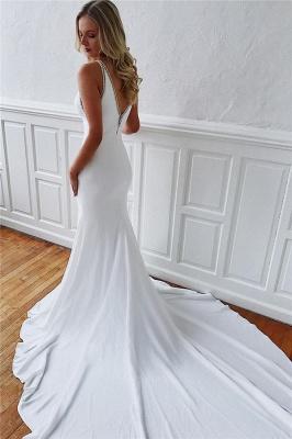 robe de mariée longue sirène trompette avec traîne_3