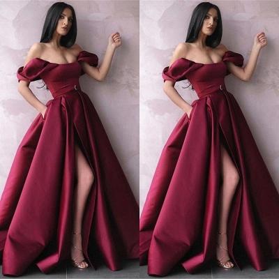 Robe de bal princesse fendue devant | Robe de soirée princesse épaules nues_2