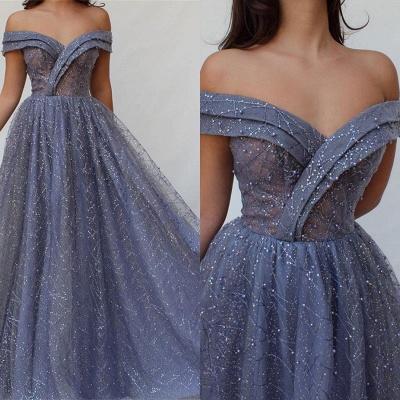 Robe de bal princesse brillante épaules nues | Robe de soirée princesse chic avec perles_2