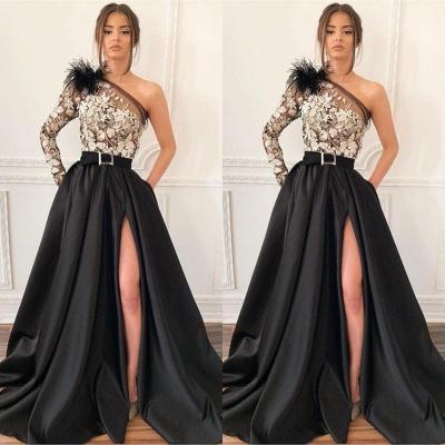 Robe de bal princesse épaules asymétriques | Robe de soirée princesse avec appliques_2