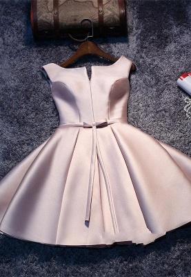 Forme Princesse Court/Mini Robe d'étudiant Satin Pas Cher_2