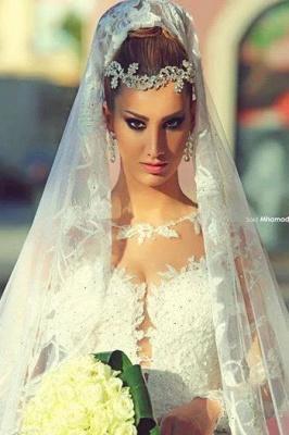 Forme Marquise Traîne moyenne Col U profond Dentelle 2020 Robes de mariée avec Dentelle_3