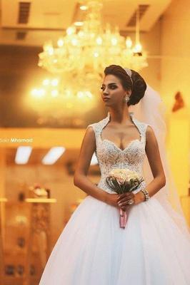 Forme Princesse Traîne moyenne Col en cœur Tulle 2021 Robes de mariée avec Dentelle_1