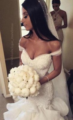 Forme Sirène/Trompette Traîne mi-longue Col en cœur Robes de mariée 2021 avec Cristal_5
